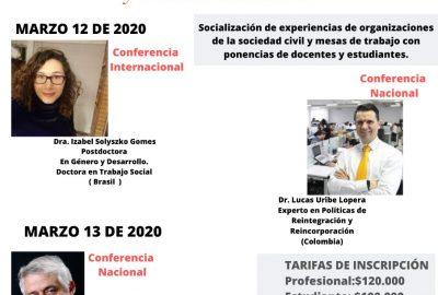 V Congreso Internacional, VI Congreso Nacional y VII Congreso de estudiantes de Trabajo Social